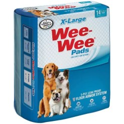 Wee-Wee Absorbent Dog Pads, Extra Large,14 Pack.