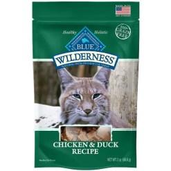 Blue Buffalo Wilderness Chicken & Duck Grain-Free Cat Treats, 2-oz bag.