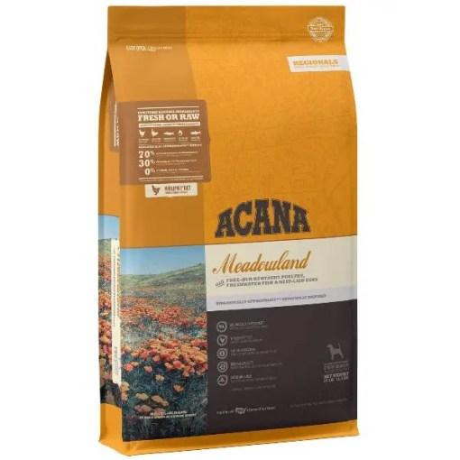 Acana Regional Meadowland Grain-Free Dog Food, 25-lb Bag.