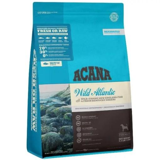 Acana Regional Wild Atlantic Grain-Free Dog Dry Food, 4.5-lb Bag.