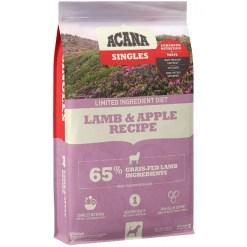 Acana Singles Limited Ingredient Lamb, Apple & Sweet Potato Dog Food, 25-lb Bag.