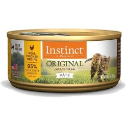 Instinct Original Grain-Free Pate Real Chicken Recipe Wet Canned Cat Food, 5.5-oz, Case of 12.