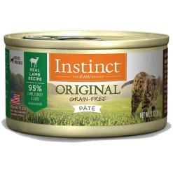 Instinct Original Grain-Free Pate Real Lamb Recipe Canned Cat Food, 3-oz, Case of 24.