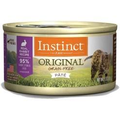 Instinct Original Grain-Free Pate Real Rabbit Recipe Wet Canned Cat Food, 3-oz, Case of 24.