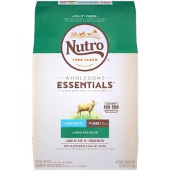 Nutro Wholesome Essentials Large Breed Adult Lamb & Rice Recipe Dry Dog Food, 30-lb Bag.
