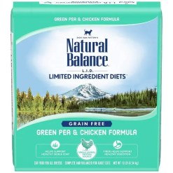 Natural Balance L.I.D. Limited Ingredient Diets Green Pea & Chicken Formula Grain-Free Dry Cat Food, 10-lb Bag.