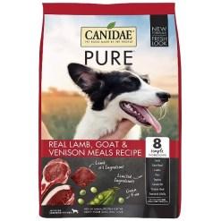 CANIDAE Grain-Free PURE Real Lamb, Goat & Venison Meal Recipe Dry Dog Food, 24-lb Bag.