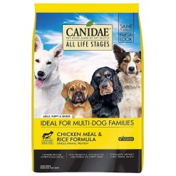 CANIDAE All Life Stages Chicken Meal & Rice Formula Dry Dog Food, 5-lb Bag.