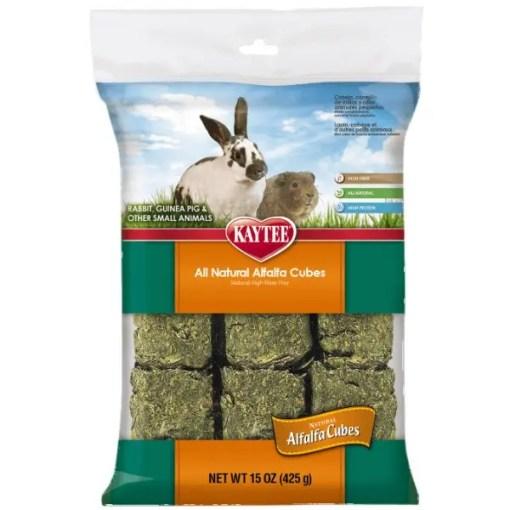 Kaytee Alfalfa Cubes Small Animal Treats.
