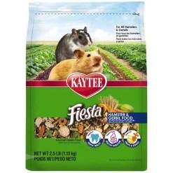 Kaytee Fiesta Gourmet Variety Diet Gerbil & Hamster Food, 2.5-lb Bag.
