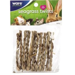 Ware Pet Products Seagrass Twists, 12 Pack.