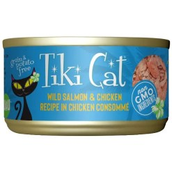 Tiki Cat Napili Luau Wild Salmon & Chicken in Chicken Consomme Grain-Free Canned Cat Food, 2.8-oz, Case of 12.