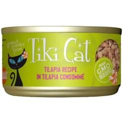 Tiki Cat Kapi'Olani Luau Tilapia in Tilapia Consomme Grain-Free Canned Cat Food, 2.8-oz, Case of 12.