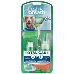 TropiClean Fresh Breath Total Care Kit For Large Dogs.