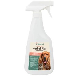 NaturVet Herbal Flea Dog & Cat Spray, 16-oz Spray Bottle.