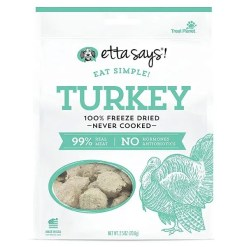 Etta Says! Eat Simple! Turkey Freeze-Dried Dog Treats, 2.5-oz bag.