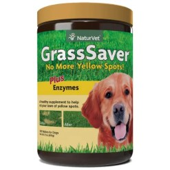 NaturVet GrassSaver Wafers Plus Enzymes Dog Supplement, 300-Count.