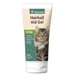 NaturVet Natural Hairball Aid with Catnip Cat Gel, 3-oz Tube.