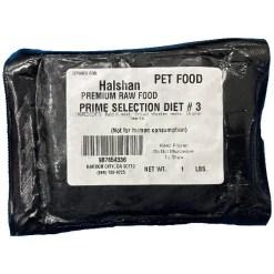 Halshan Premium Food Raw Frozen Prime Selection Diet #3 Pet Food, 1-lb.
