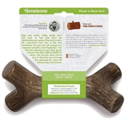 Benebone Maplestick Tough Dog Chew Toy, Large Back Package.