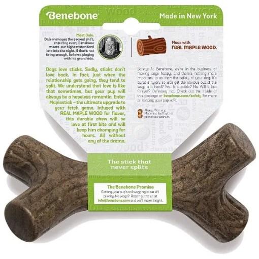 Benebone Maplestick Tough Dog Chew Toy, Small.