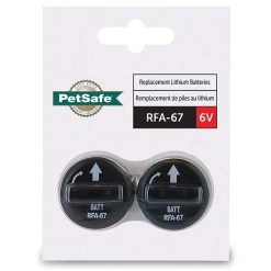 PetSafe RFA-67 Replacement Battery, 2-Pack.