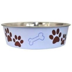 Loving Pets Bella Bowls Pet Bowl, Medium, Murano Blue.