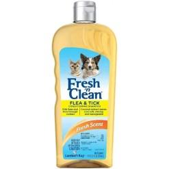 Fresh n Clean Flea & Tick Conditioning Shampoo, 18-oz Bottle.