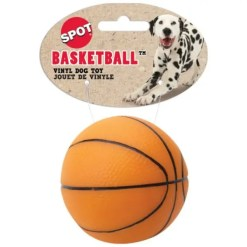 Ethical Pet Spot Vinyl Basketball Dog Toy.