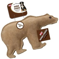 Ethical Pet Spot Dura-Fused Leather & Jute Bear, Large.