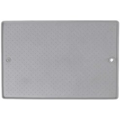 Dexas Grippmat Flexible Pet Placemat, Large, Light Gray.