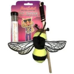 Meowijuana Refillable Get Buzzed Catnip Bee Cat Toy.