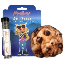 Meowijuana Refillable Get Baked Cookie Catnip Cat Toy.