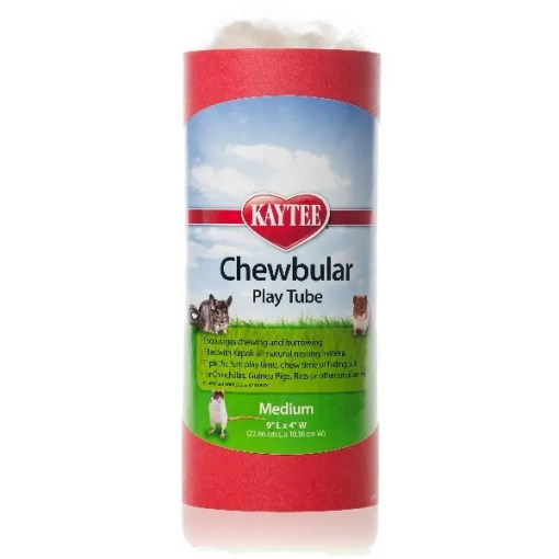 Kaytee Chewbular Small Pet Play Tube, Medium, Assorted Colors.