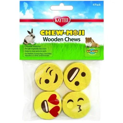 Kaytee Chew-Moji Small Animal Chew Toys, 4 Pack.