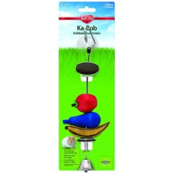 Kaytee Small Animal Ka-Bob Chew Dispenser Toy with Suction Cup.