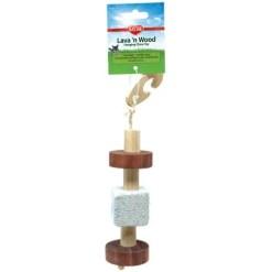 Kaytee Lava 'n Wood Hanging Small Animal Toy.