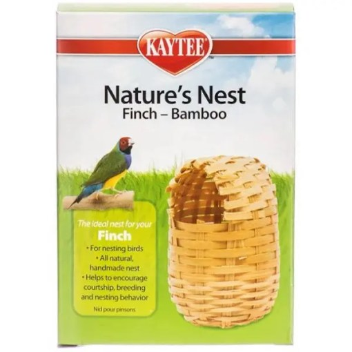 Kaytee Finch Bamboo Nature's Nest, Regular.