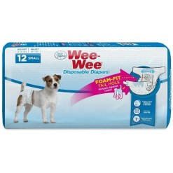 Wee-Wee Disposable Doggie Diapers, Small, 12 Count. SKU 4566397231