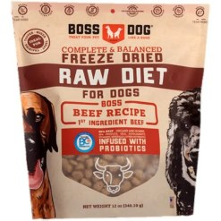 Boss Dog Freeze Dried Raw Diet Beef Recipe Dog Food, 12-oz.
