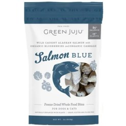 Green JuJu Salmon Blue Recipe Freeze-Dried Salmon Whole Food Bites For Dogs & Cats, 3-oz.