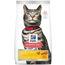 Science Diet Adult Urinary Hairball Control Dry Cat Food, 15.5-lb