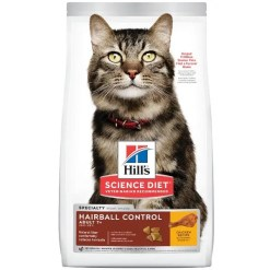 Science Diet Adult 7+ Hairball Control Chicken Recipe Dry Cat Food, 7-lb