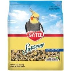 Kaytee Supreme Cockatiel Food, 5-lb Bag.