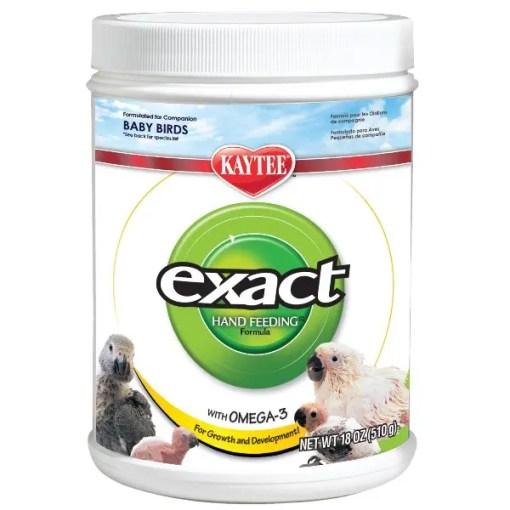 Kaytee Exact Hand Feeding Formula Baby Bird Food, 18-oz Jar.