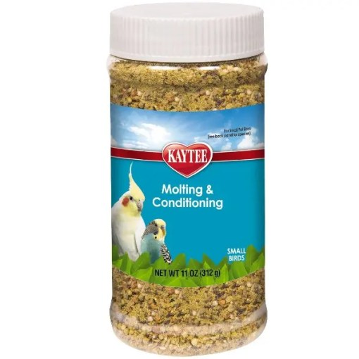 Kaytee Molting and Conditioning for All Pet Birds, 11-oz Jar.