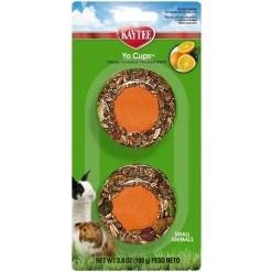 Kaytee Fiesta Yogurt Cup Orange Tangerine Flavored Treat for Small Animals, 2 Pack.