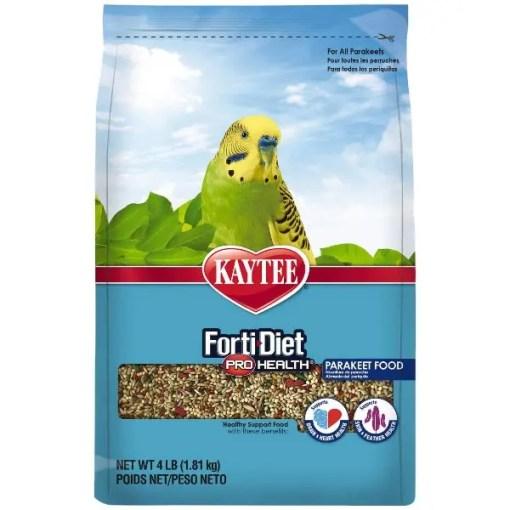 Kaytee Forti-Diet Pro Health Parakeet Food, 4-lb Bag.