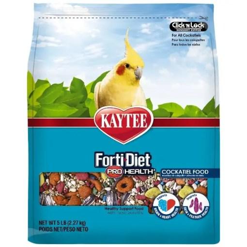 Kaytee Forti-Diet Pro Health Cockatiel Food, 5-lb Bag.