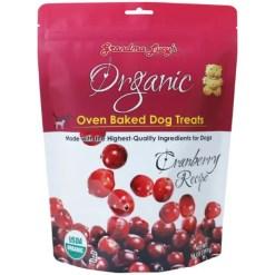 Grandma Lucy's Organic Cranberry Oven Baked Dog Treats, 14-oz Bag.